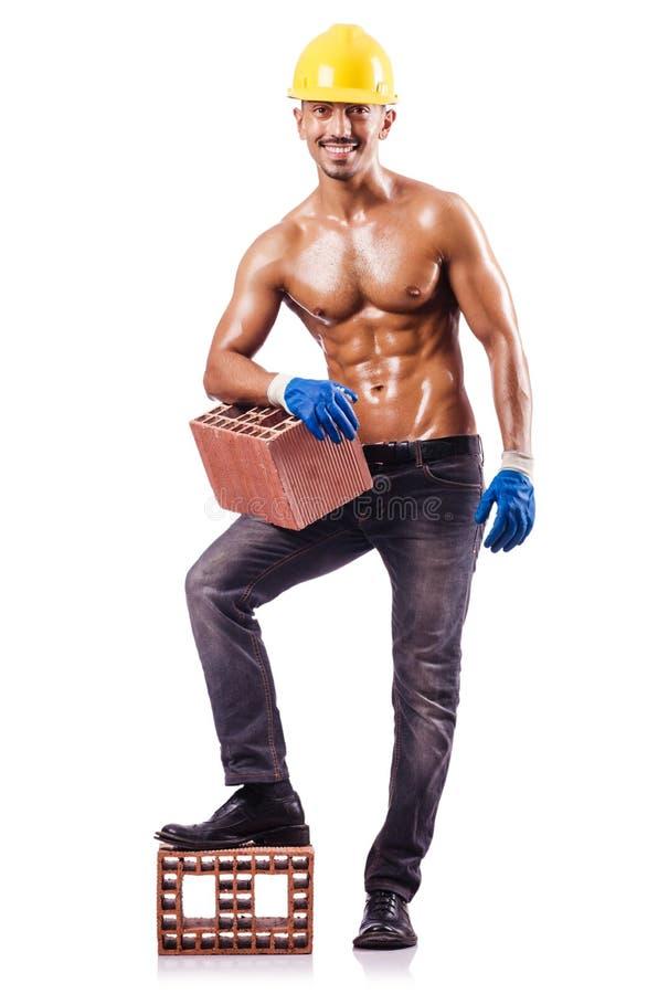 Muscular Builder Stock Image