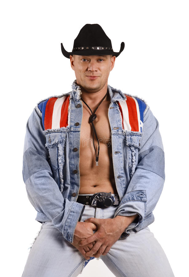 A Muscular Cowboy Stock Photography