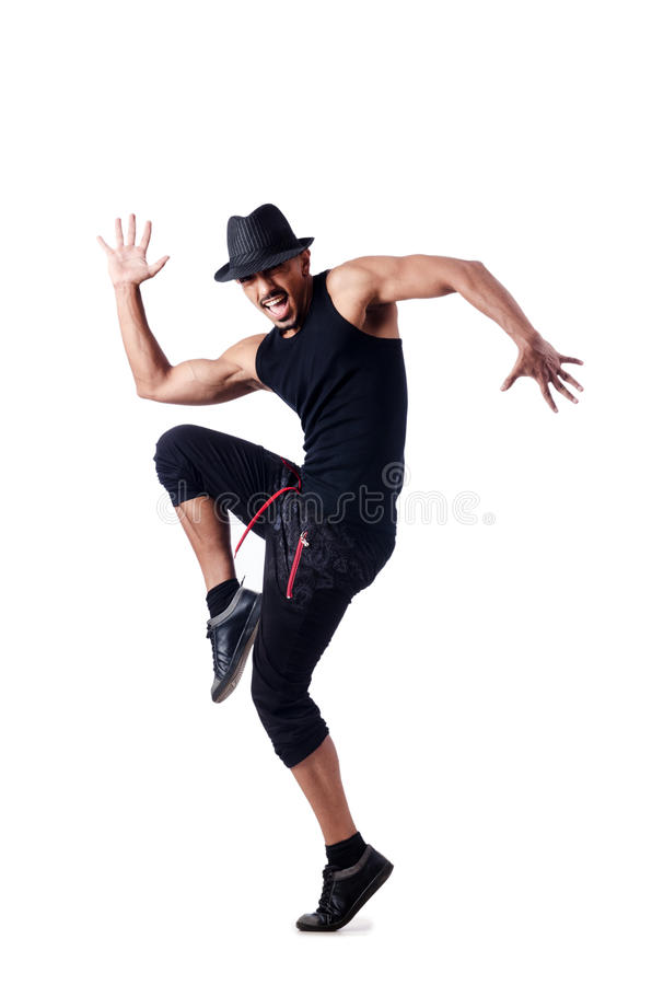 Muscular Dancer Isolated Royalty Free Stock Image