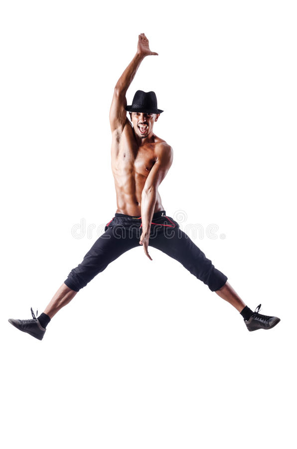 Download Muscular dancer  on white stock image. Image of leap - 26630371