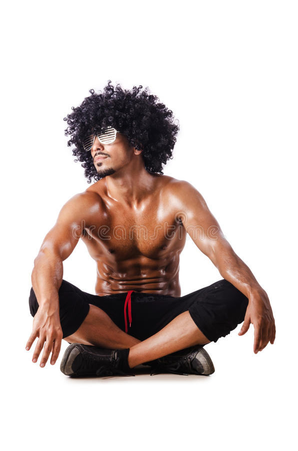 Download Muscular dancer on white stock photo. Image of model - 26630398