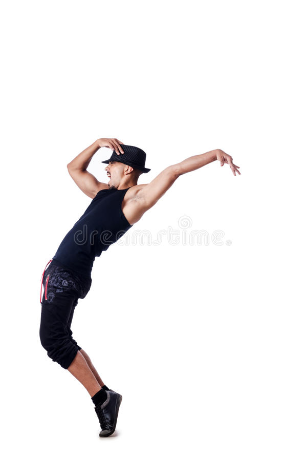 Download Muscular dancer  on white stock image. Image of gymnastic - 26841931