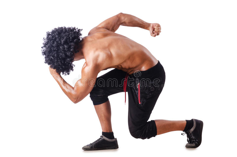 Download Muscular dancer  on white stock image. Image of fashion - 27047421