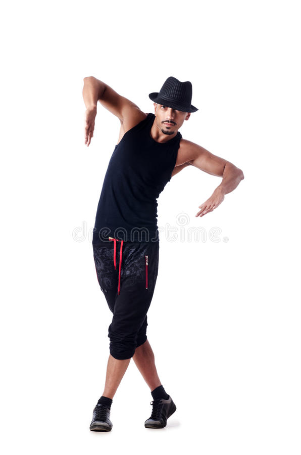 Download Muscular Dancer  On White Royalty Free Stock Image - Image: 27171836