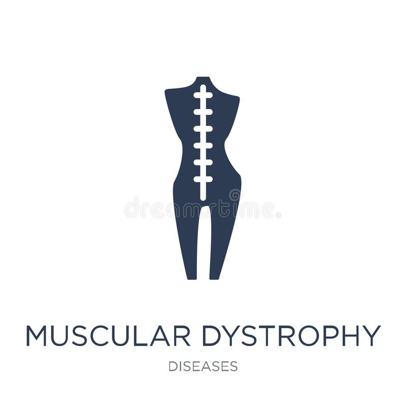 Muscular dystrophy icon. Trendy flat vector Muscular dystrophy i stock illustration