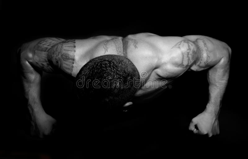 Muscular guy royalty free stock photo