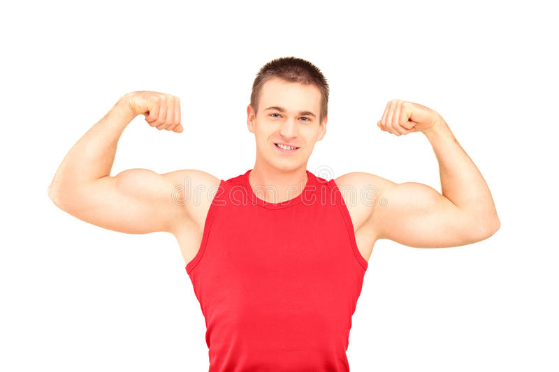 Download Muscular Guy Showing His Muscles Stock Image - Image: 29648835