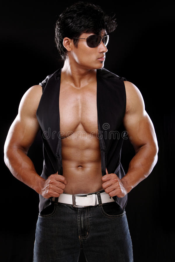 Download A muscular Indian man stock image. Image of pose, adult - 22285629