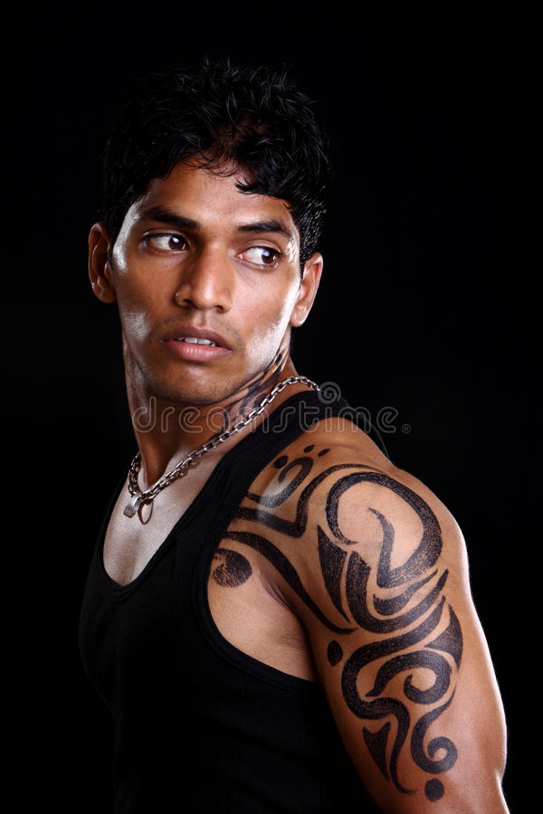 Download A muscular Indian man stock photo. Image of body, adult - 22850080