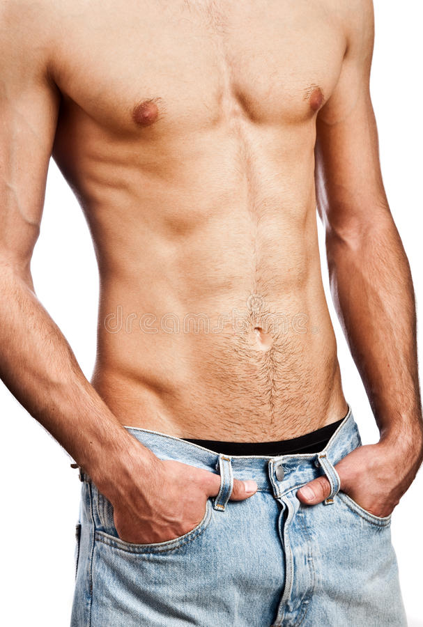 Muscular male torso royalty free stock photos