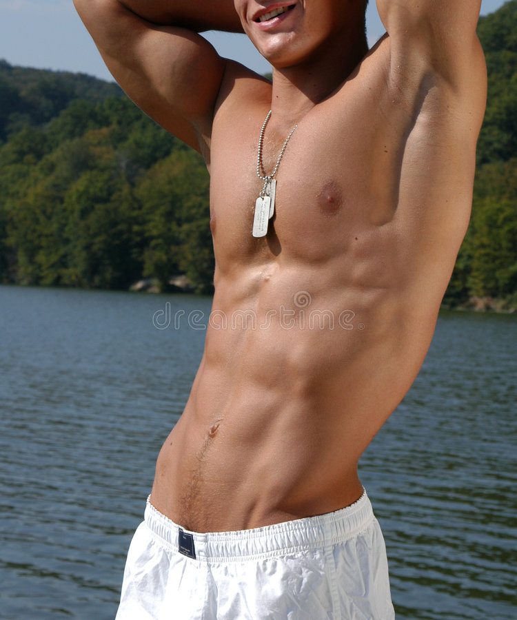 Download Muscular Male Torso stock image. Image of nipple, nude - 471395