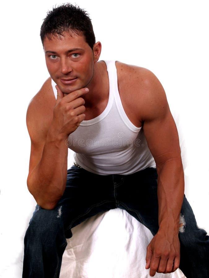 Muscular Man. Portrait of attractive man stock image