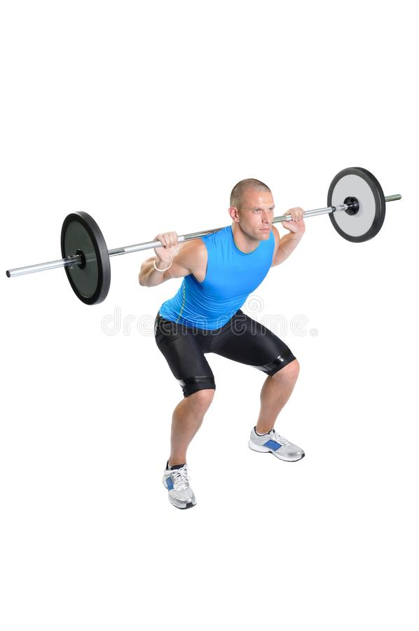 Download Muscular Man Exercise On A White Background Stock Image - Image: 26646455