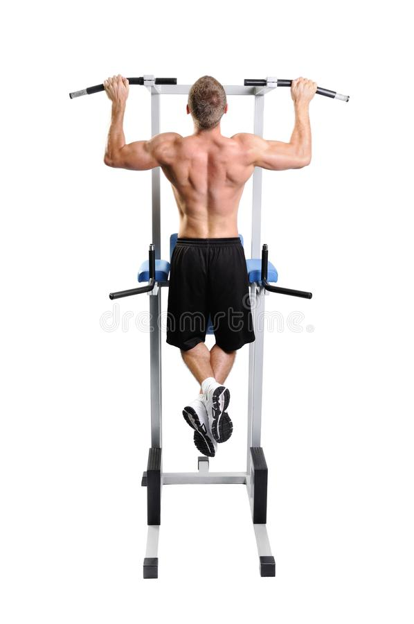 Download Muscular Man Exercise On A White Background Stock Image - Image of train, healthy: 26646463