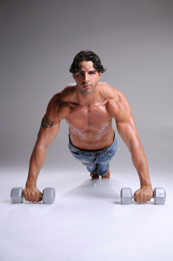 Download Muscular  Man Push ups stock photo. Image of fashion, exercises - 6420936