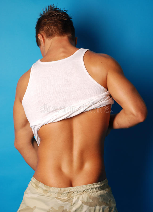 Download Muscular man showing back stock image. Image of ripped - 11140523