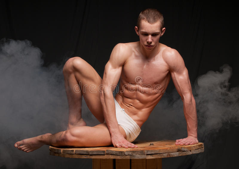Muscular model royalty free stock photography