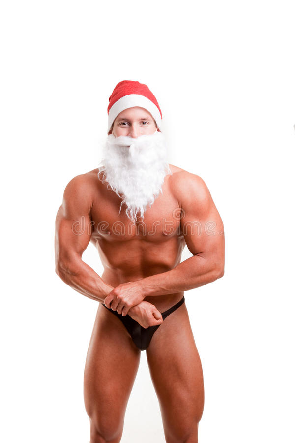 Download Muscular santa claus stock image. Image of adult, claus - 12216863