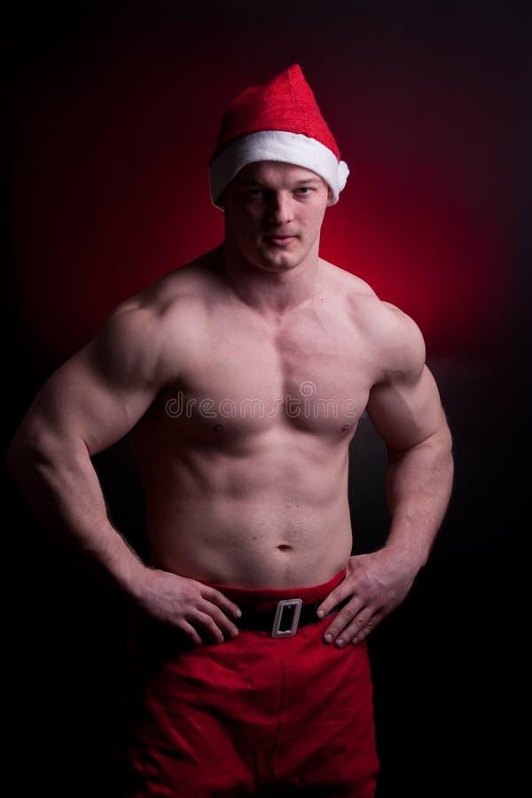 Muscular Santa Claus Stock Image