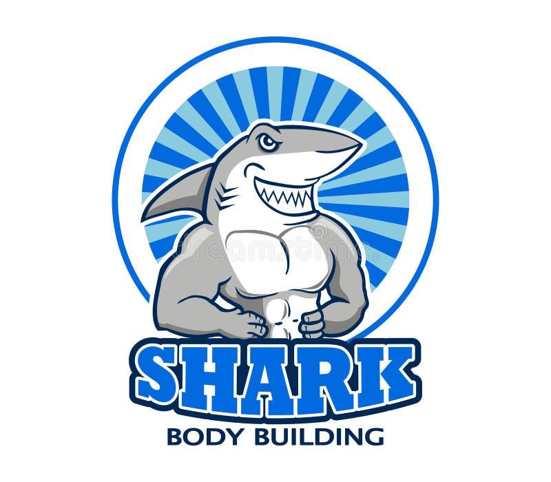 Muscular Shark Logo. A vector illustration of muscular shark logo vector illustration