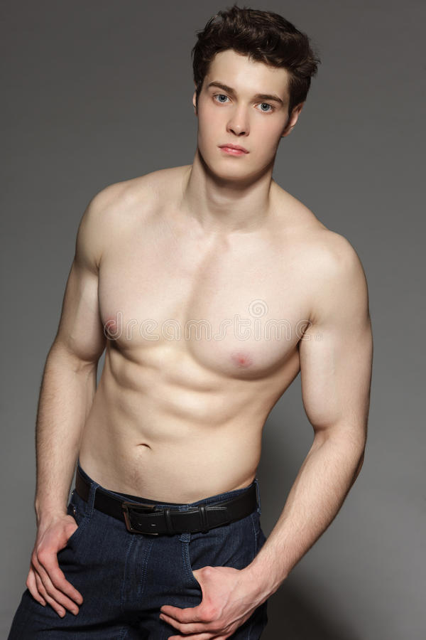 Fit Healthy Toned Body Handsome Young Stock Photo 86279089