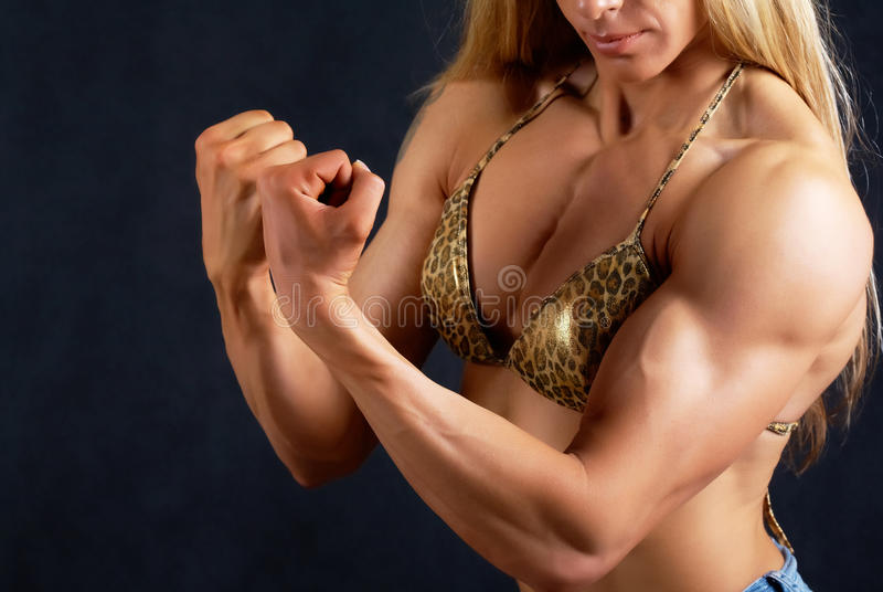 Download Muscular woman stock photo. Image of breast, athletism - 18342024