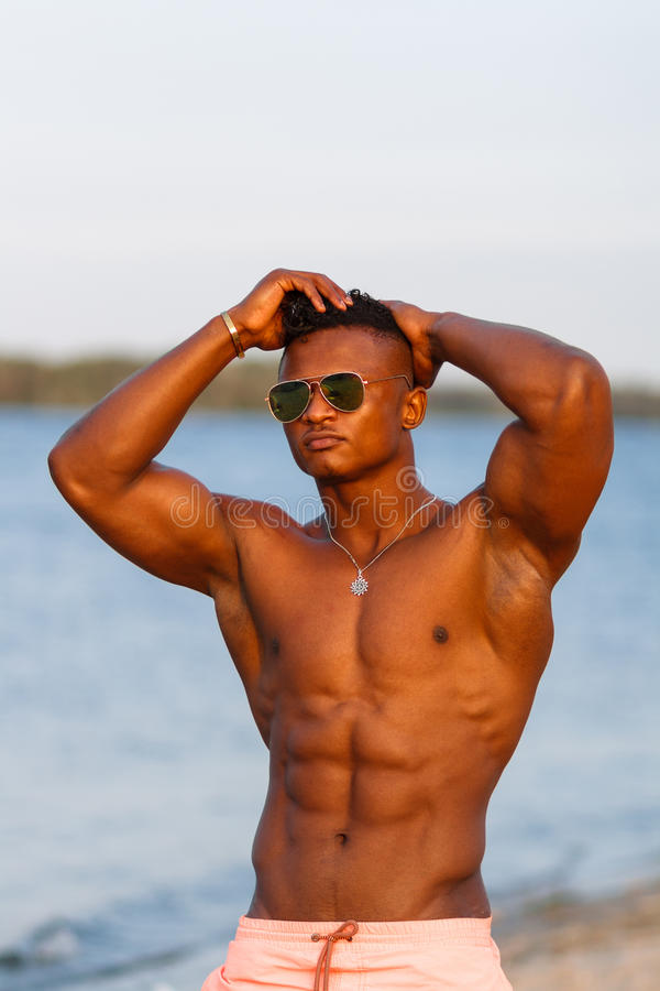 Muscular Young Wet Naked Athletic Sexy Stock Photo (Edit