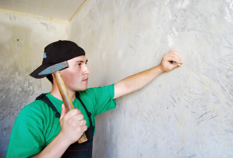 Download Muscular Young Builder. Stock Photo - Image: 12415210