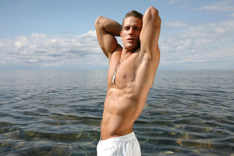 Muscular Young Man royalty free stock photos