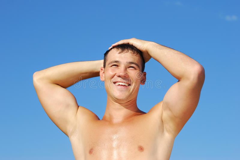 Download Muscular young man stock photo. Image of healthy, build - 15554914