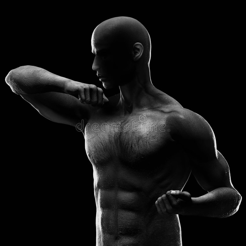 Muscular young man stock images