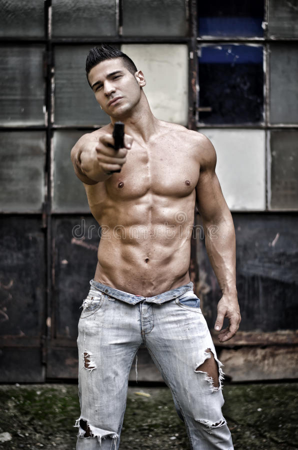 cute-nude-guy-with-gun-nude-the