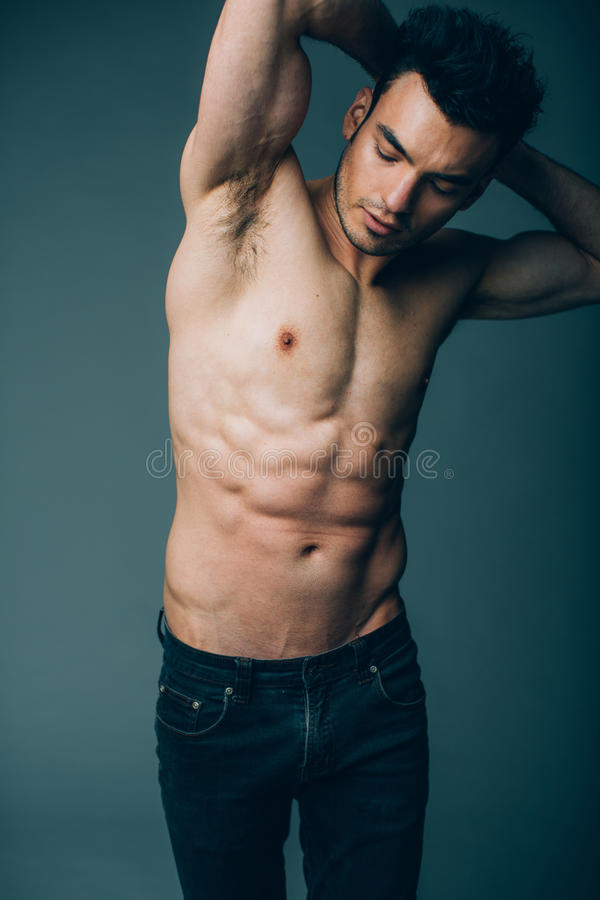 Muscular Young Naked Sexy Boy Posing Stock Photo (Edit Now