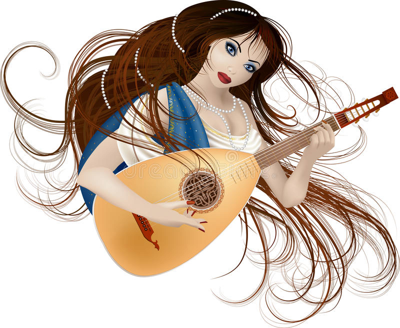 Muse de musique illustration libre de droits