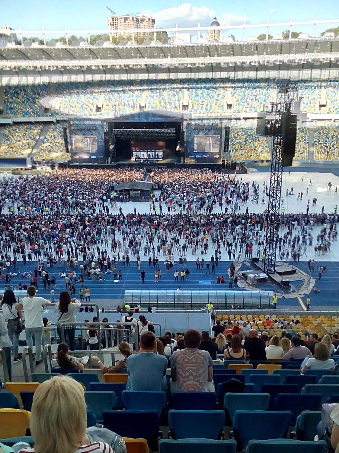 Muse-Konzert lizenzfreie stockfotografie
