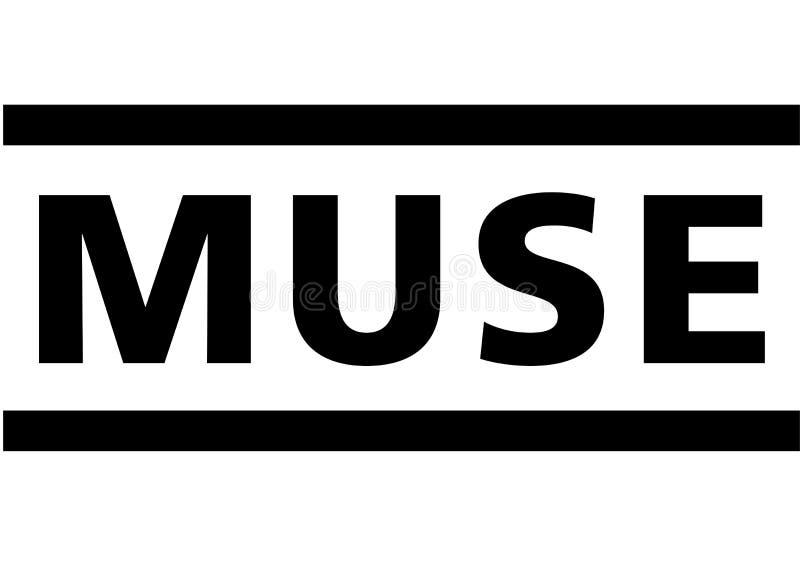 Muse Logo ilustração stock