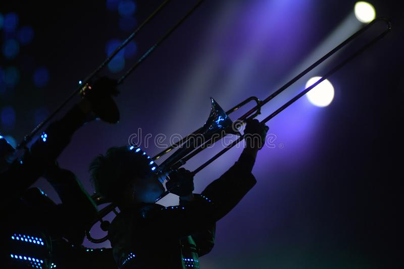 Muse - Musicisti immagine stock libera da diritti