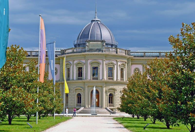 Musee Ariana/musée suisse de la céramique et du verre image stock