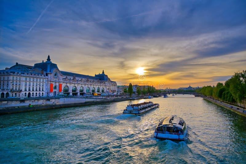 Musee D ` Orsay i Paris, Frankrike royaltyfri fotografi