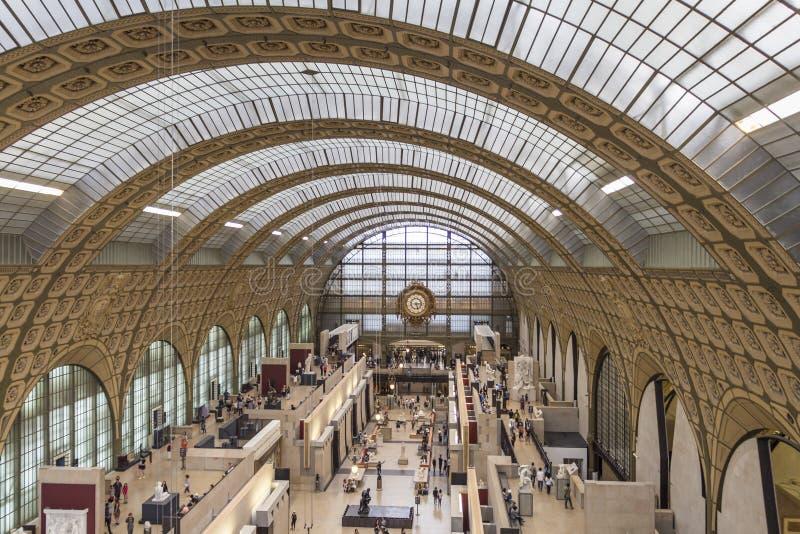Musee d'Orsay in Parijs, Frankrijk stock foto's