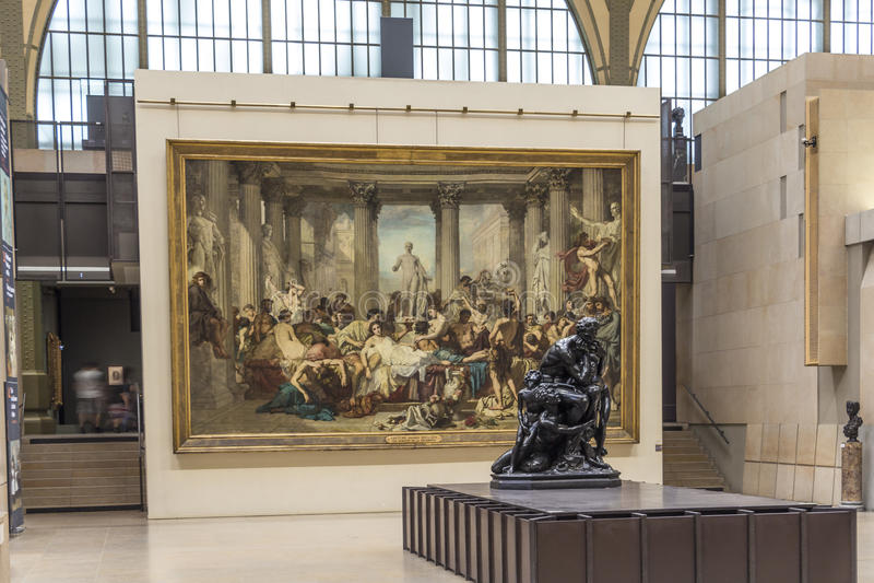 Musee d'Orsay in Parijs, Frankrijk stock afbeeldingen