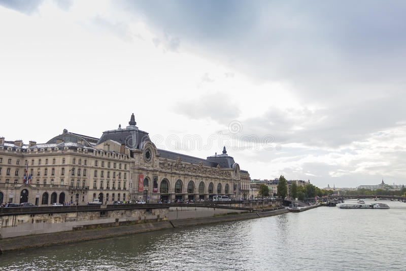 Musee d'Orsay in Parijs, Frankrijk stock fotografie
