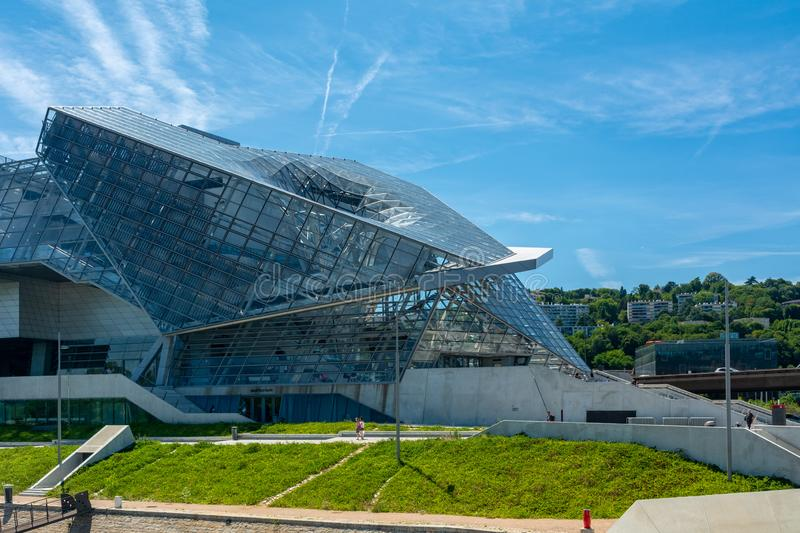 Musee des Confluences in Lyon, France. Lyon, France - July 18, 2018: The Musee des Confluences is a science centre and anthropology museum, located at the stock photo