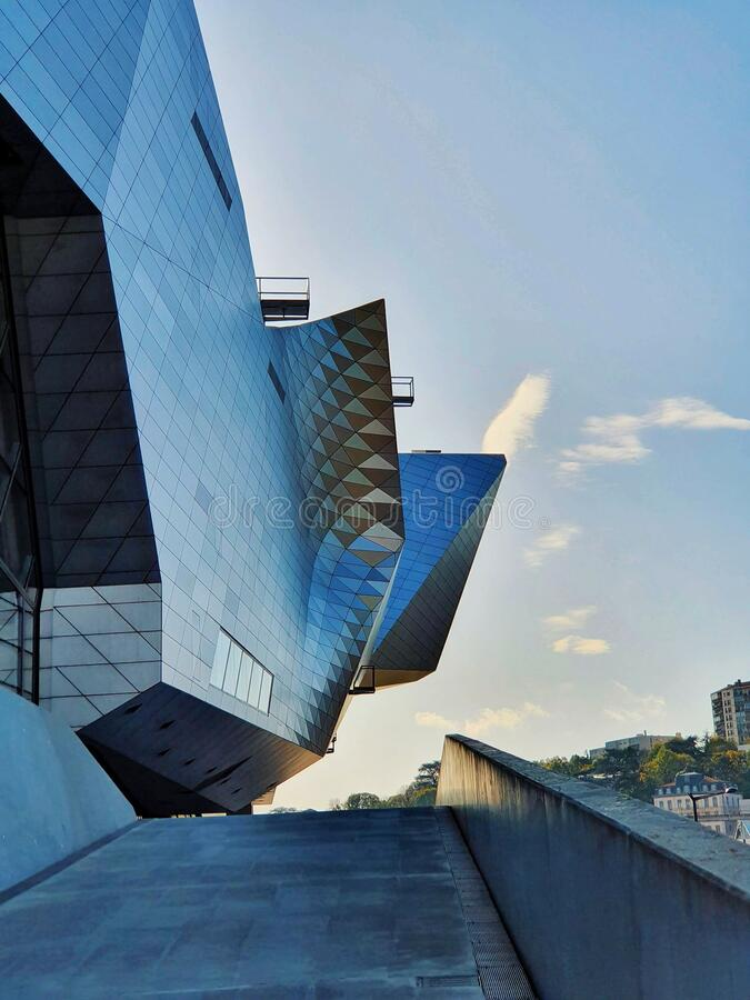 Musee des confluences, modern buliding of a famous museum in Lyon, France stock image