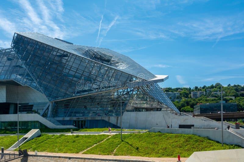 Musee des-sammanflöden i Lyon, Frankrike arkivfoto