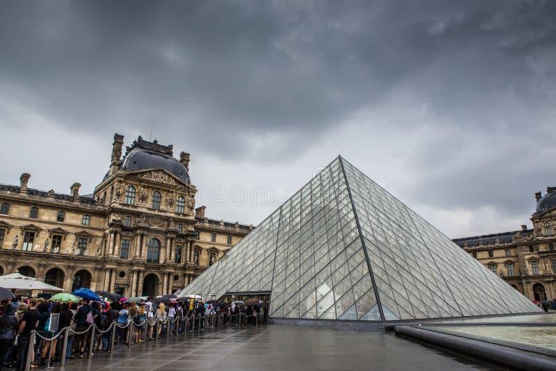 Musee du Louvre stockbilder