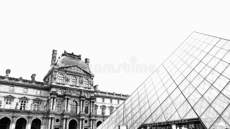 Musee du Louvre -Paris stock image