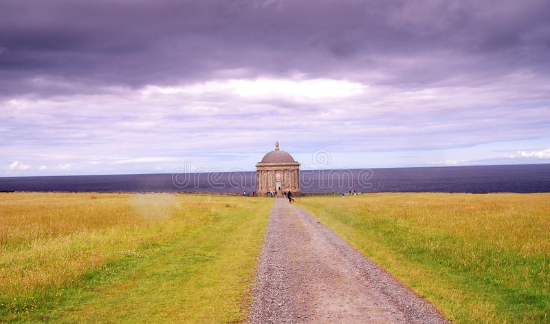 Museenden Temple and Downhill Demesne royalty free stock photography