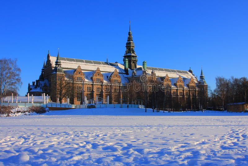 museet博物馆北欧nordiska斯德哥尔摩 免版税库存照片
