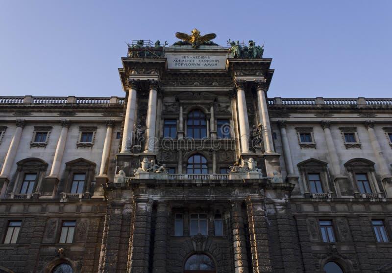 Museet av etnologi i Burggarten parkerar i Wien arkivfoton